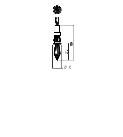 Redo SML beépíthető spot lámpa 70304 CR33 LED 1X0.5W Cristal