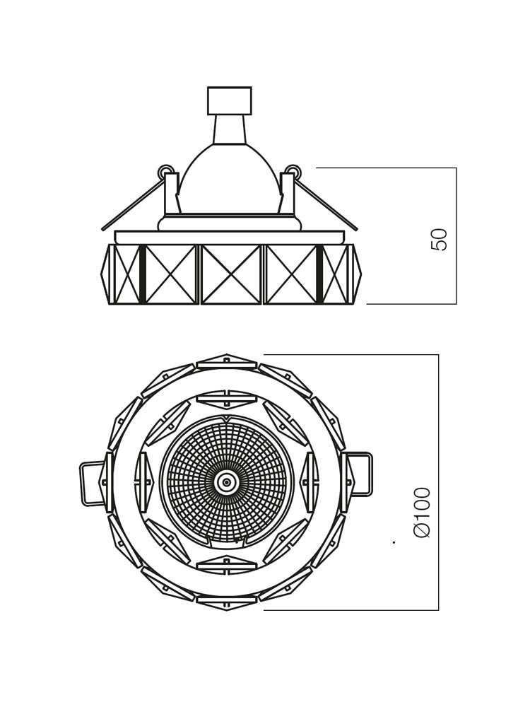 Redo SML beépíthető Spot lámpa 70344 CR36