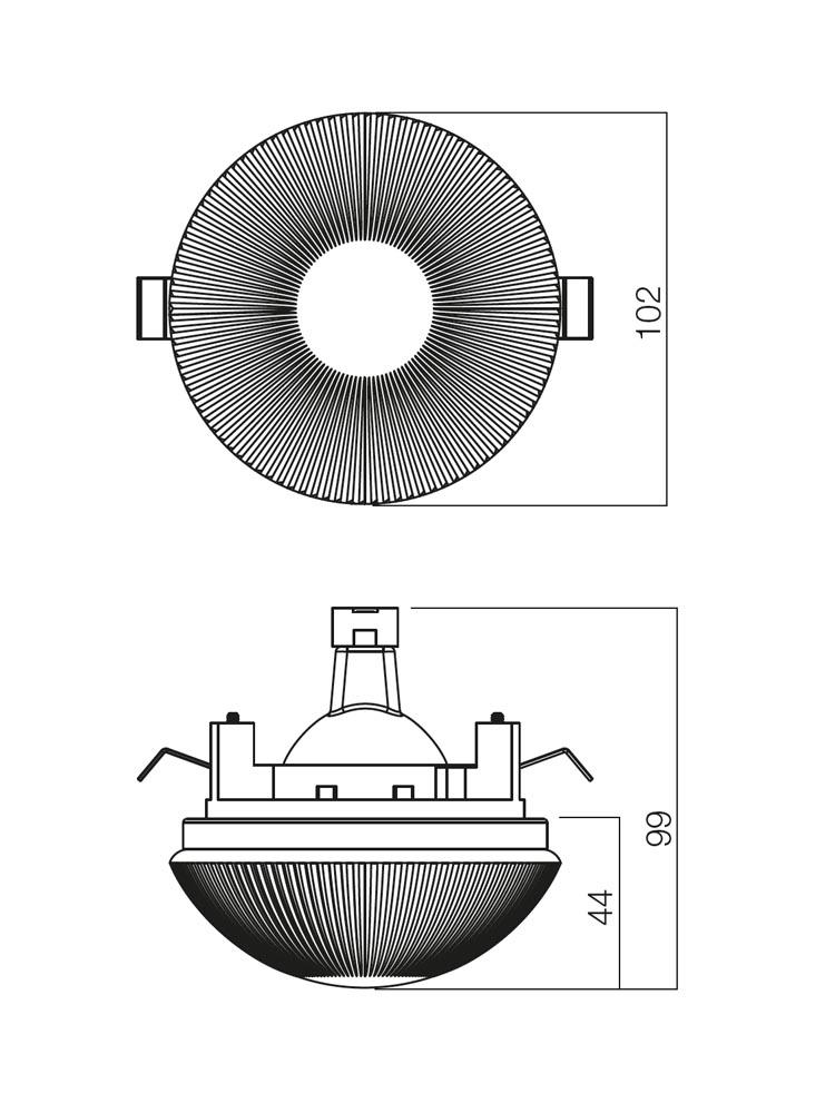 Redo SML fürdőszobai beépíthető spot lámpa 70202 ST 200