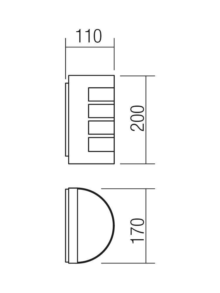 Redo SML kültéri fali lámpa 9001 EVO