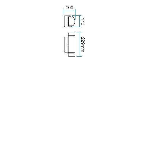Redo SML kültéri fali lámpa 9810 FOCUS