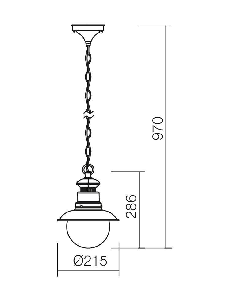 Redo SML kültéri lámpa függeszték 9046 SCOTT