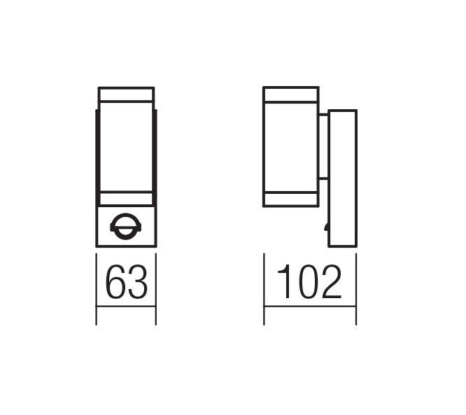 Redo SML LED kültéri falikar 9453 VINCE