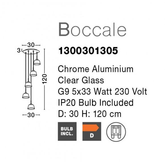 Nova Luce Boccale 5 izzós függeszték NL-1300301305