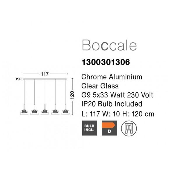 Nova Luce Boccale 5 izzós függeszték NL-1300301306