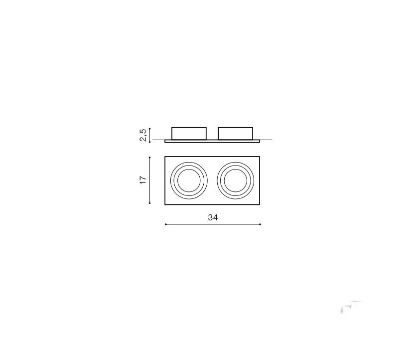 AZzardo AZ-0772 Siro beépíthető lámpa / AZzardo AZ-GM2200BK-ALU /