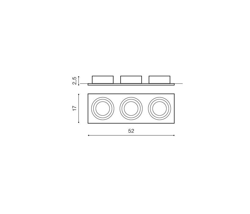 AZzardo AZ-0775 Siro beépíthető lámpa / AZzardo AZ-GM2300BK-ALU /