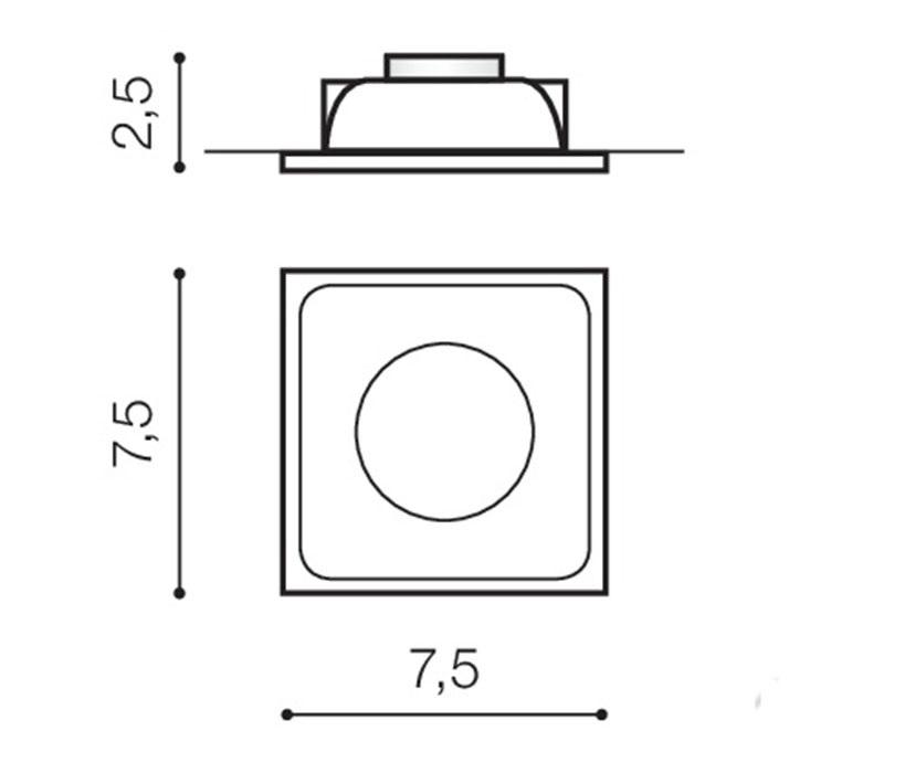 AZzardo AZ-0760 Pio beépíthető lámpa / AZzardo AZ-GM2108WH /