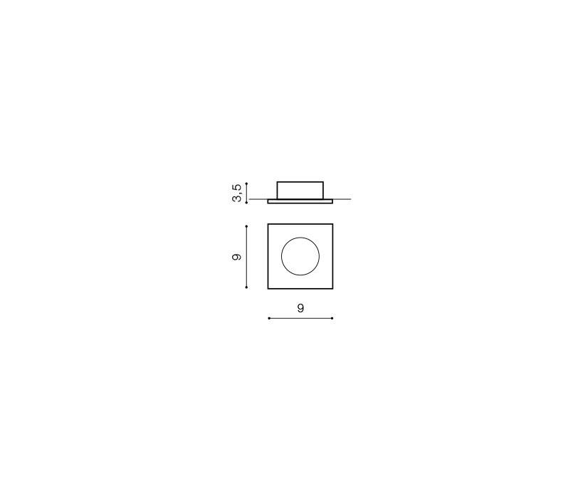 AZzardo AZ-0811 Ezio beépíthető fürdőszobai lámpa / AZzardo AZ-GM2105ALU /