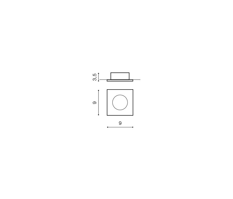 AZzardo AZ-0812 Ezio beépíthető fürdőszobai lámpa / AZzardo AZ-GM2105BK /