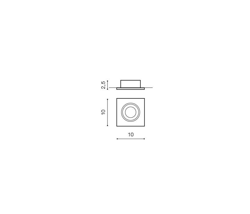 AZzardo AZ-0807 Editta beépíthető lámpa / AZzardo AZ-GM2110WH /