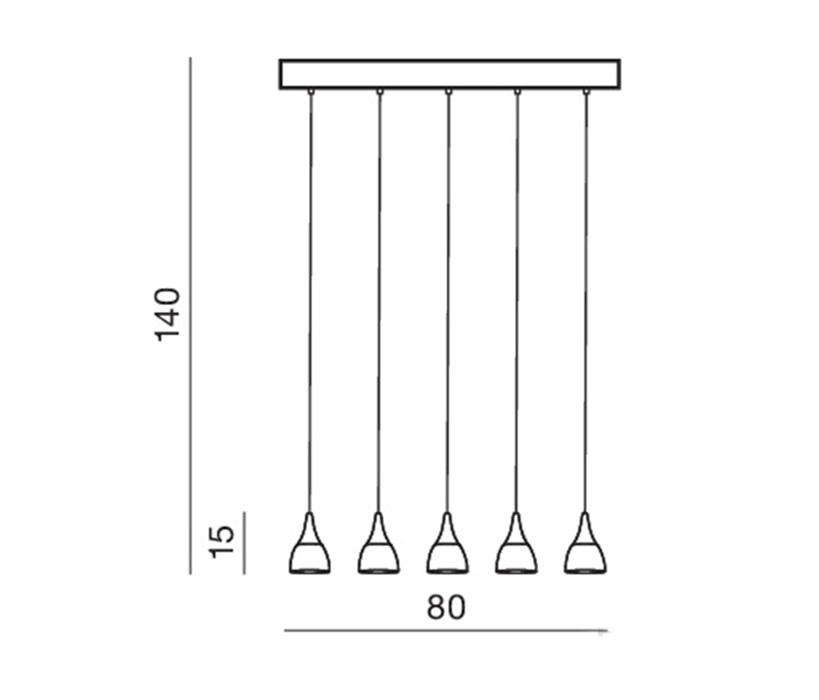 Azzardo AZ-2848 Dalmatia LED függeszték