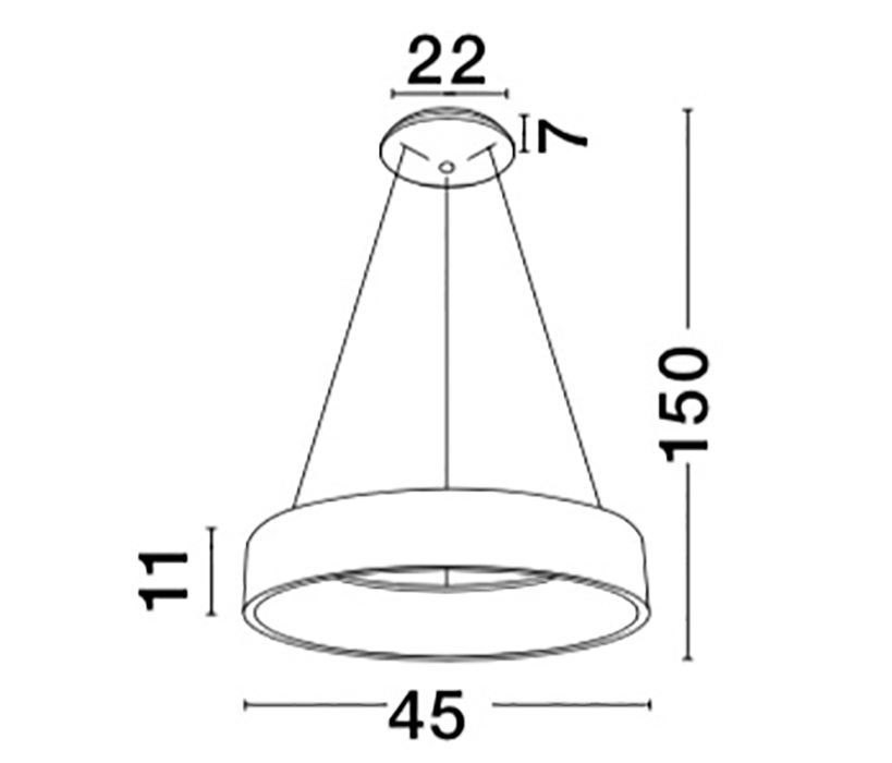 Nova Luce NL-8218207 Rando LED függeszték