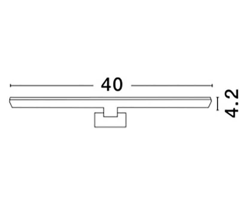 Nova Luce NL-8264109 Dario LED fürdõszobai fali lámpa