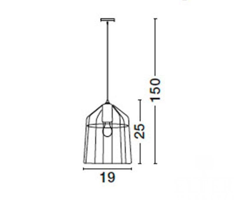 Nova Luce NL-7605178 Peppino függeszték