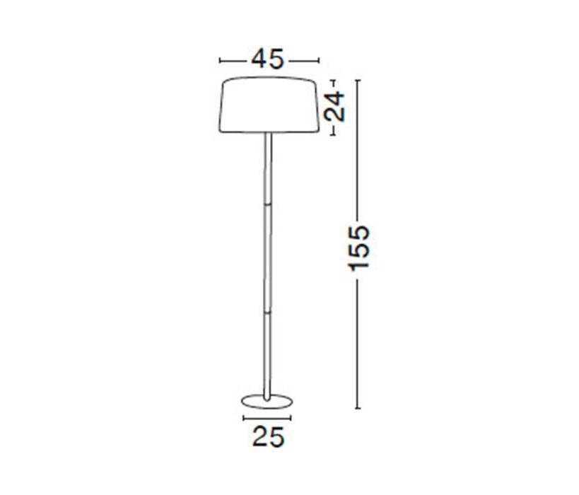 Nova Luce NL-7605184 Arrigo állólámpa