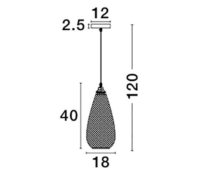 Nova Luce NL-8040402 Boho függeszték