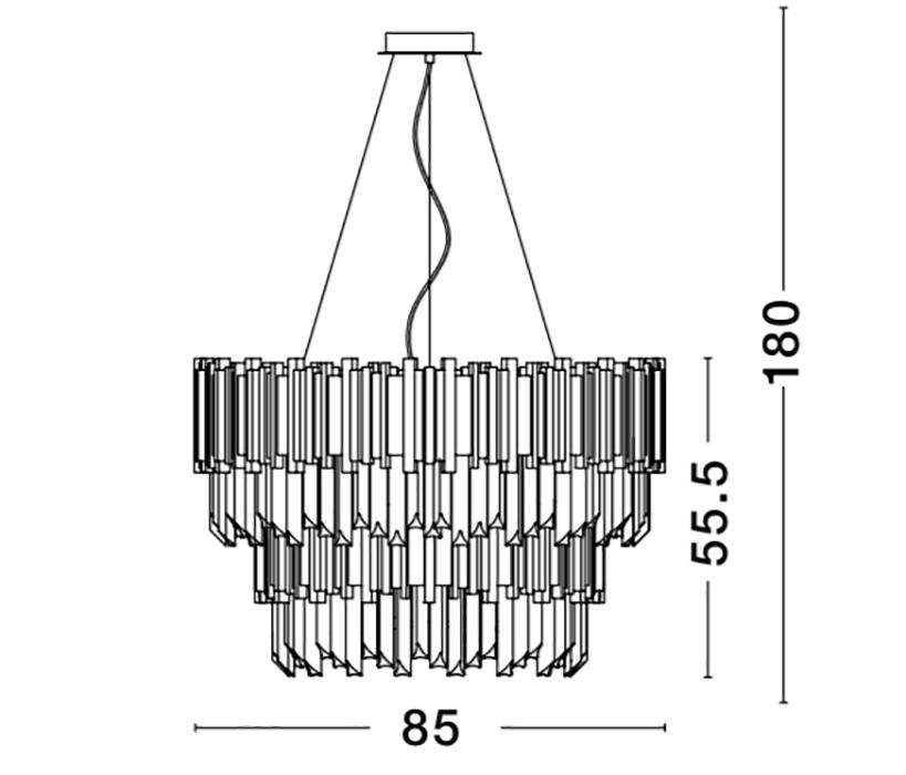 Nova Luce NL-81091718 Baladona kristály függeszték