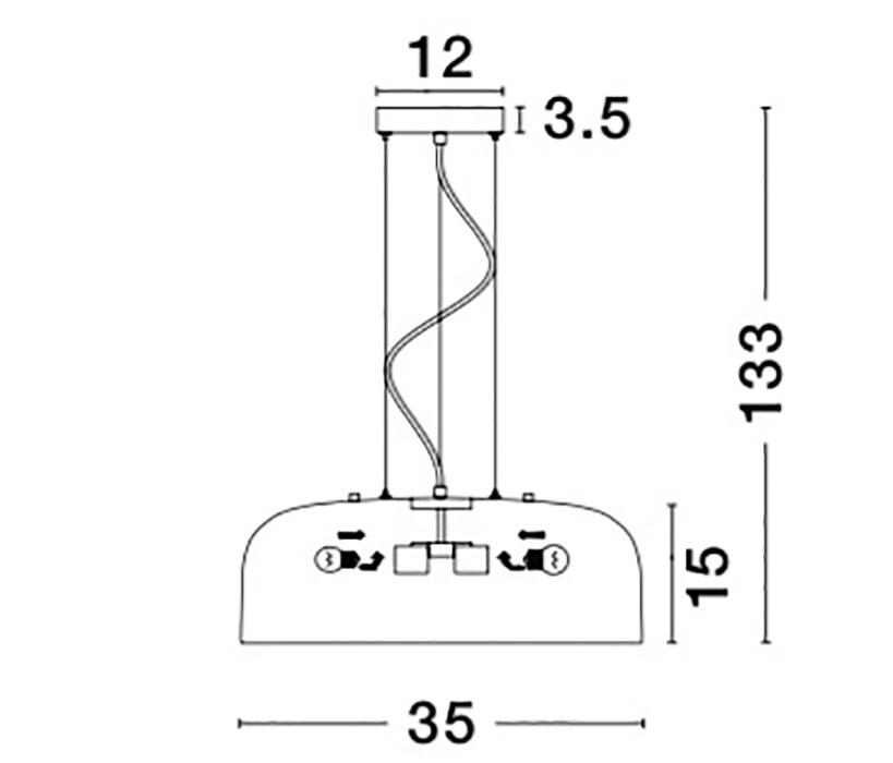 Nova Luce NL-826803 Perleto függeszték