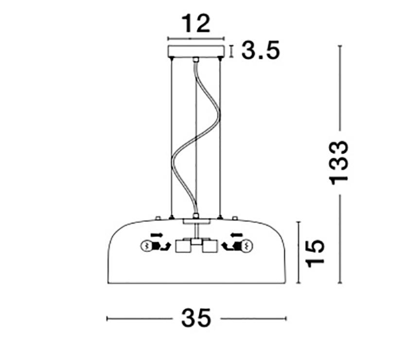 Nova Luce NL-826804 Perleto függeszték