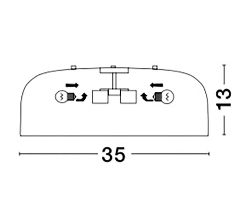 Nova Luce NL-826806 Perleto mennyezeti lámpa