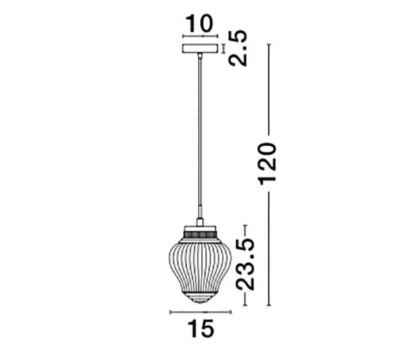 Nova Luce NL-838180 Nord függeszték