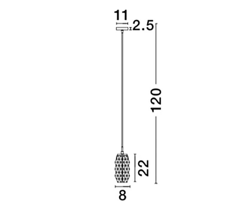 Nova Luce NL-838190 Laval függeszték