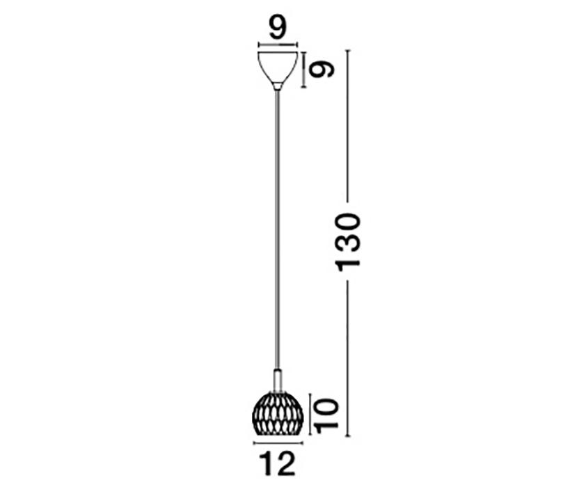 Nova Luce NL-8540401 Lara függeszték