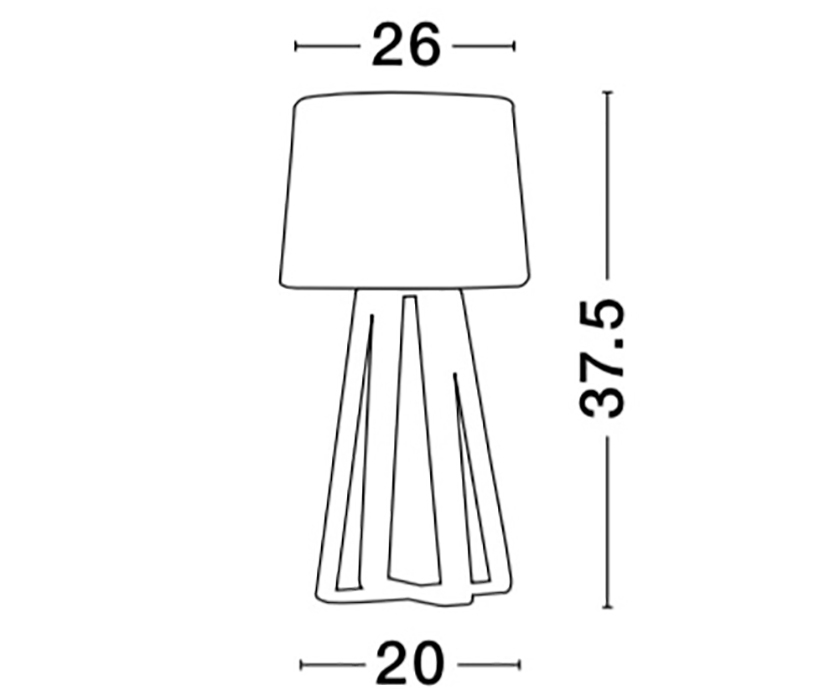 Nova Luce NL-8700302 Derek asztali lámpa