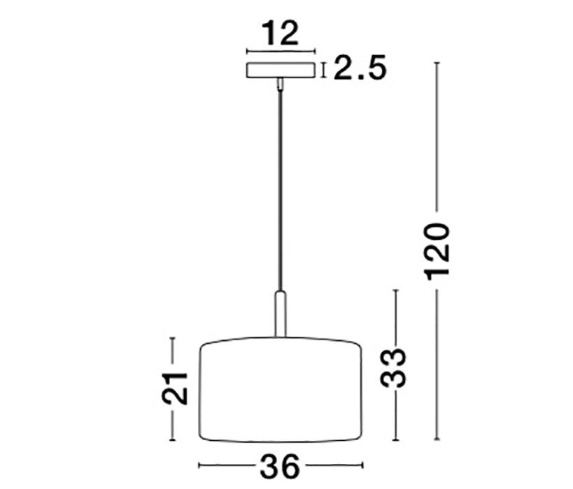 Nova Luce NL-8701102 Derek függeszték
