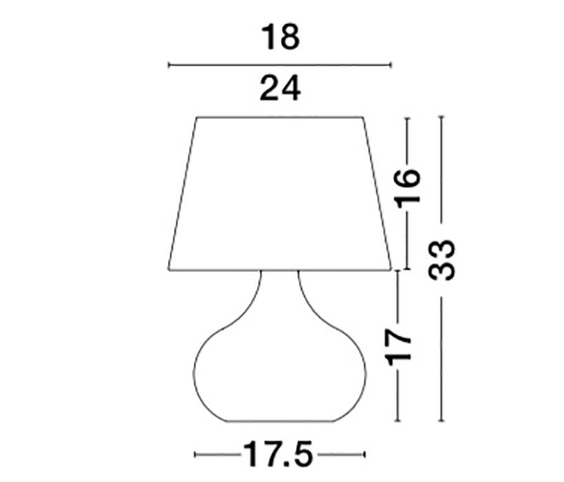 Nova Luce NL-8800602 Cameron asztali lámpa