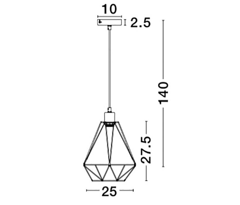Nova Luce NL-8801701 Pietra függeszték