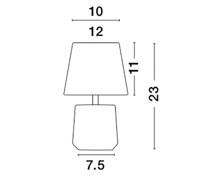Nova Luce NL-8805201 Alicia asztali lámpa