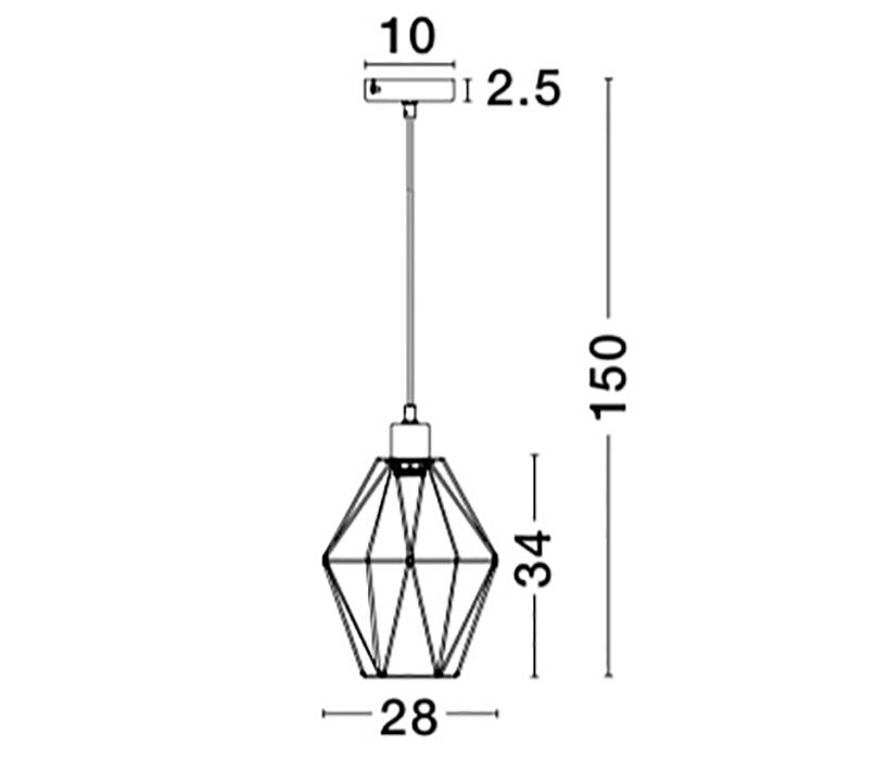 Nova Luce NL-8805301 Pietra függeszték