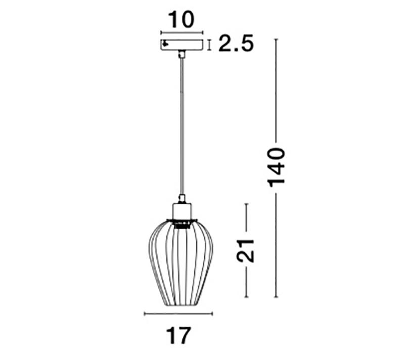 Nova Luce NL-8809701 Sage függeszték