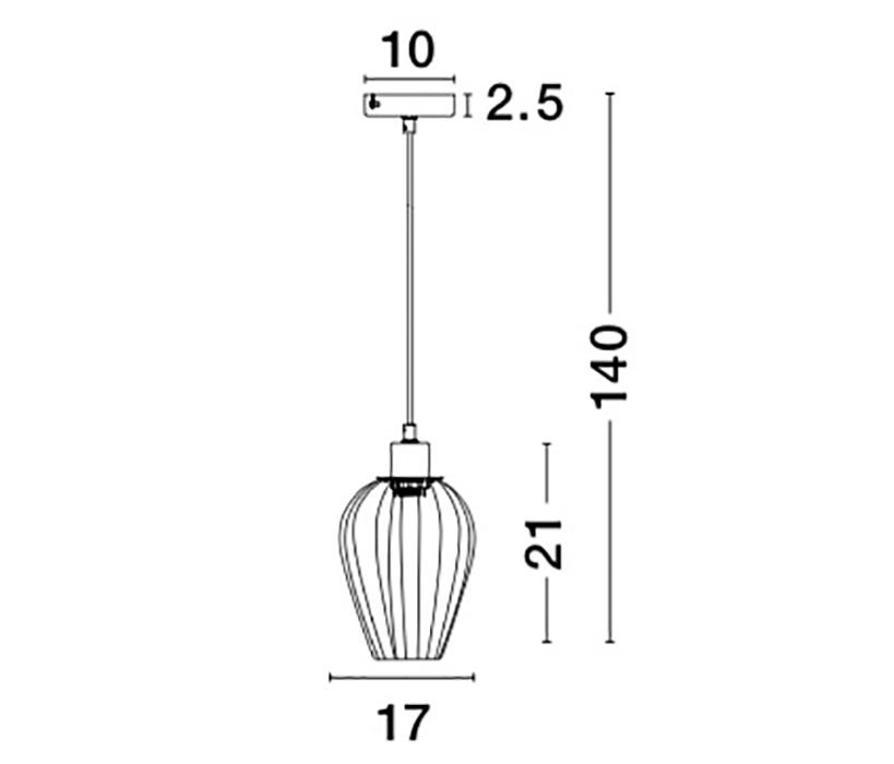 Nova Luce NL-8809702 Sage függeszték