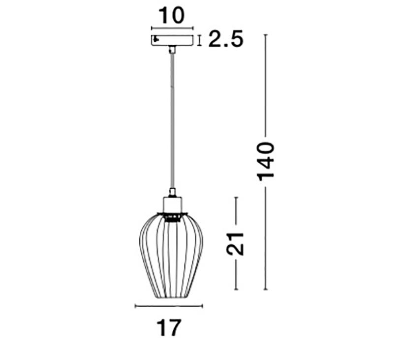Nova Luce NL-8809703 Sage függeszték