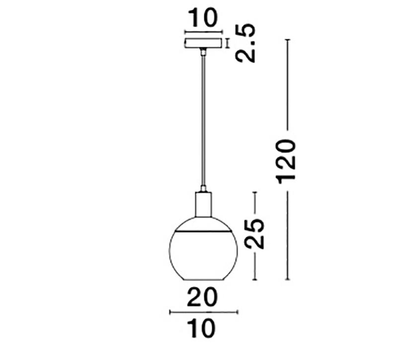 Nova Luce NL-8823001 Aubrey függeszték