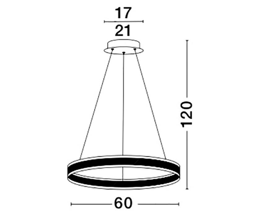 Nova Luce NL-88622101D Nador LED függeszték