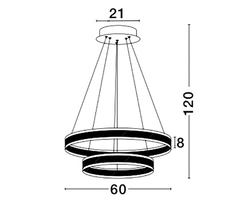 Nova Luce NL-88622102D Nador LED függeszték