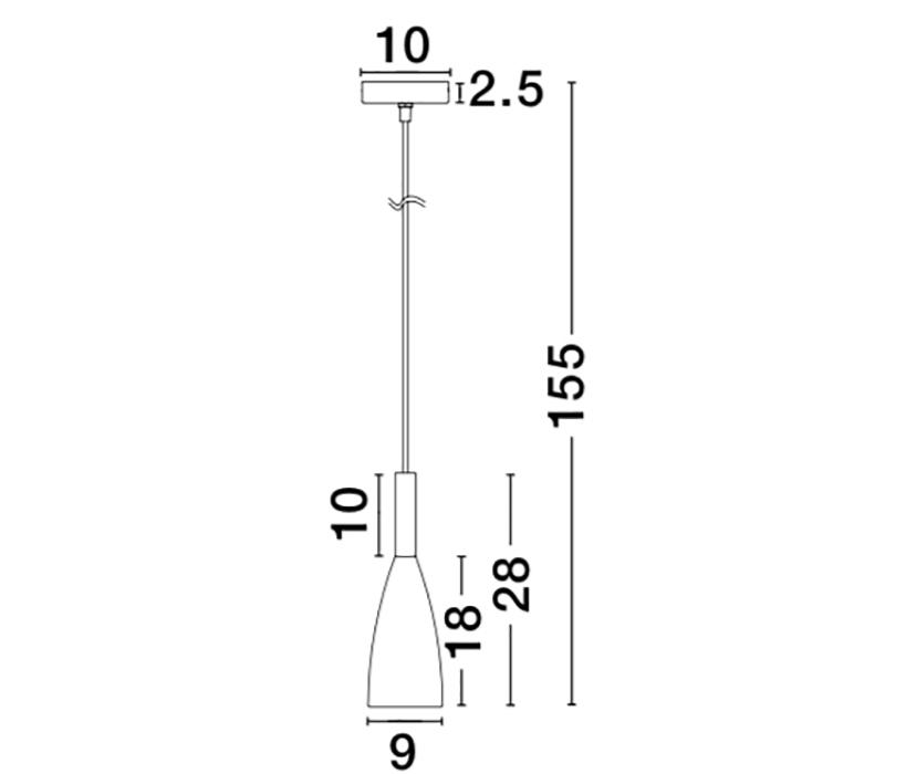 Nova Luce NL-8883802 Grant függeszték