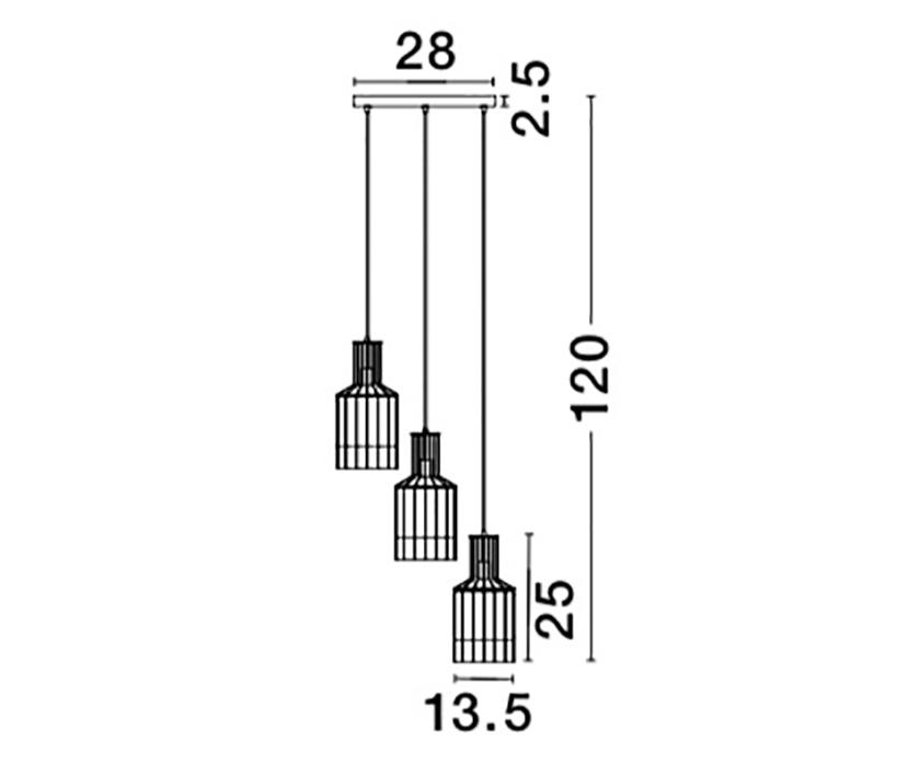 Nova Luce NL-9001701 Carter függeszték