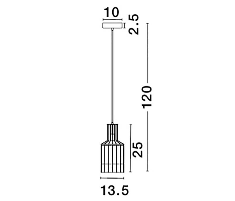 Nova Luce NL-9001703 Carter függeszték