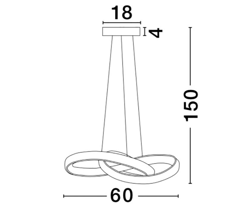 Nova Luce NL-9002602 Ross LED függeszték