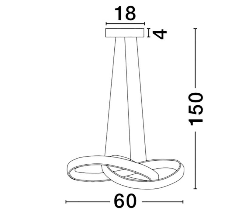 Nova Luce NL-9002603 Ross LED függeszték
