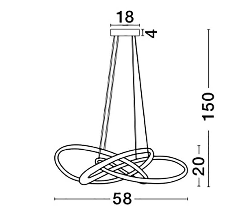 Nova Luce NL-9007801 Treccia LED függeszték