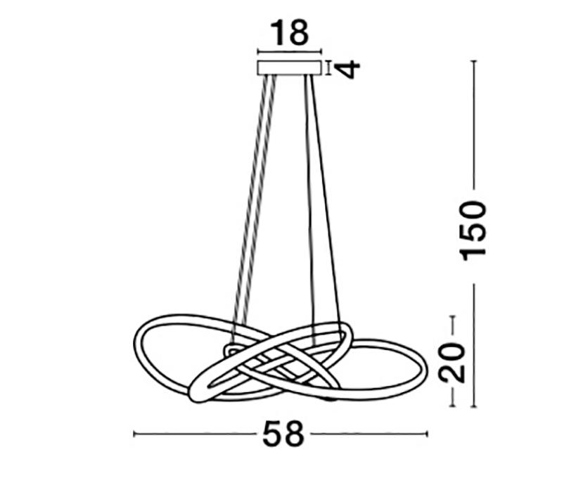 Nova Luce NL-9007802 Treccia LED függeszték