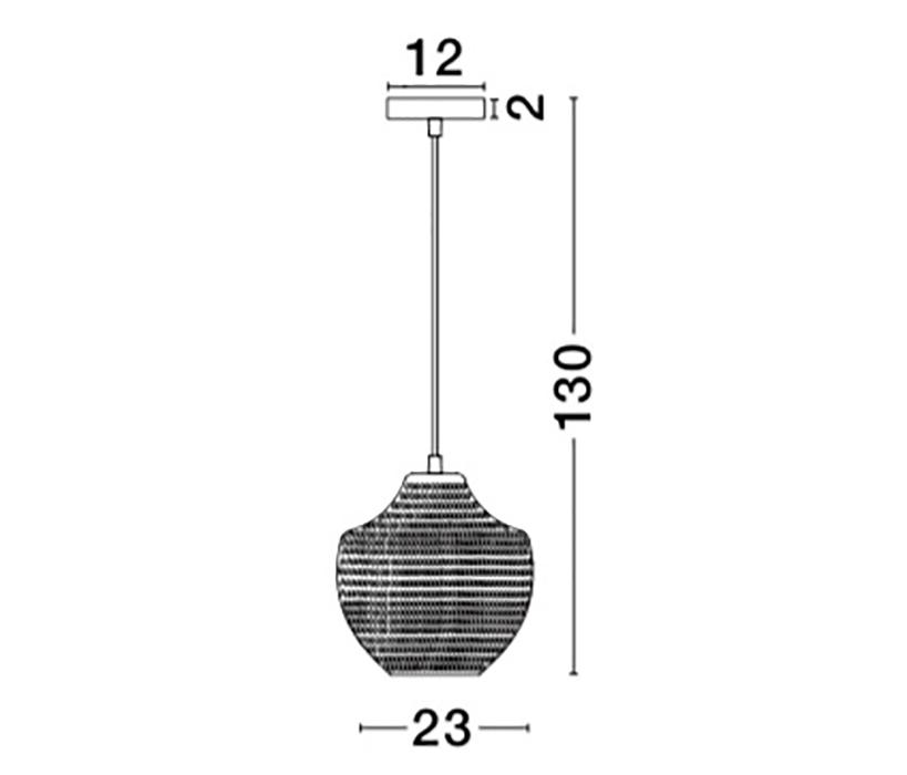 Nova Luce NL-9103532 Vetro függeszték