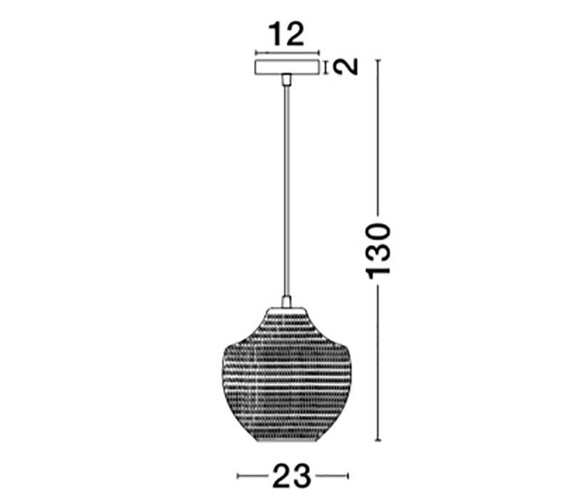 Nova Luce NL-9103533 Vetro függeszték