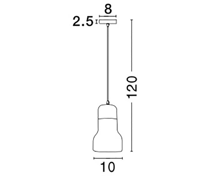 Nova Luce NL-9162463 Alanzo függeszték